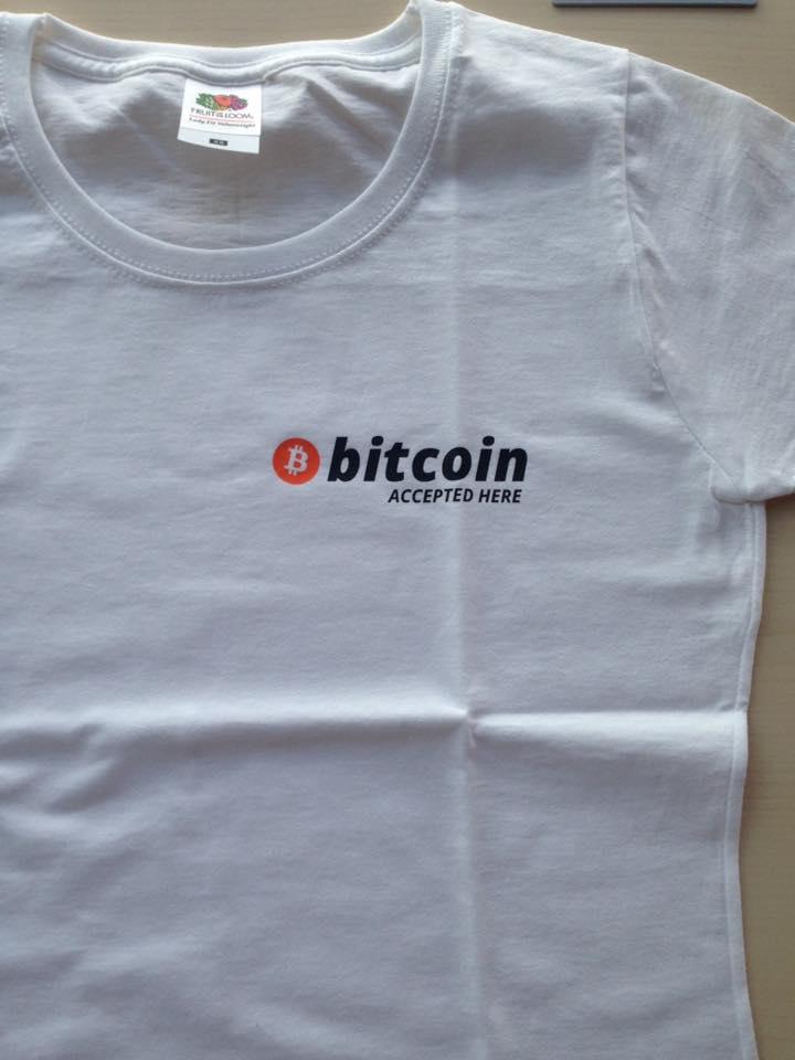 Koszulki z Logo Bitcoin i Bitcoin accepted here