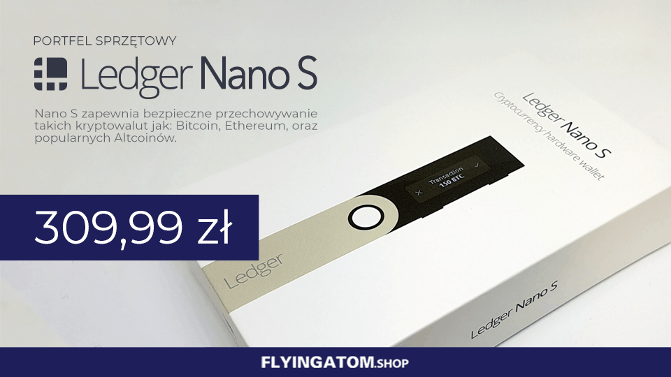 Ledger Nano S w FlyingAtom Shop